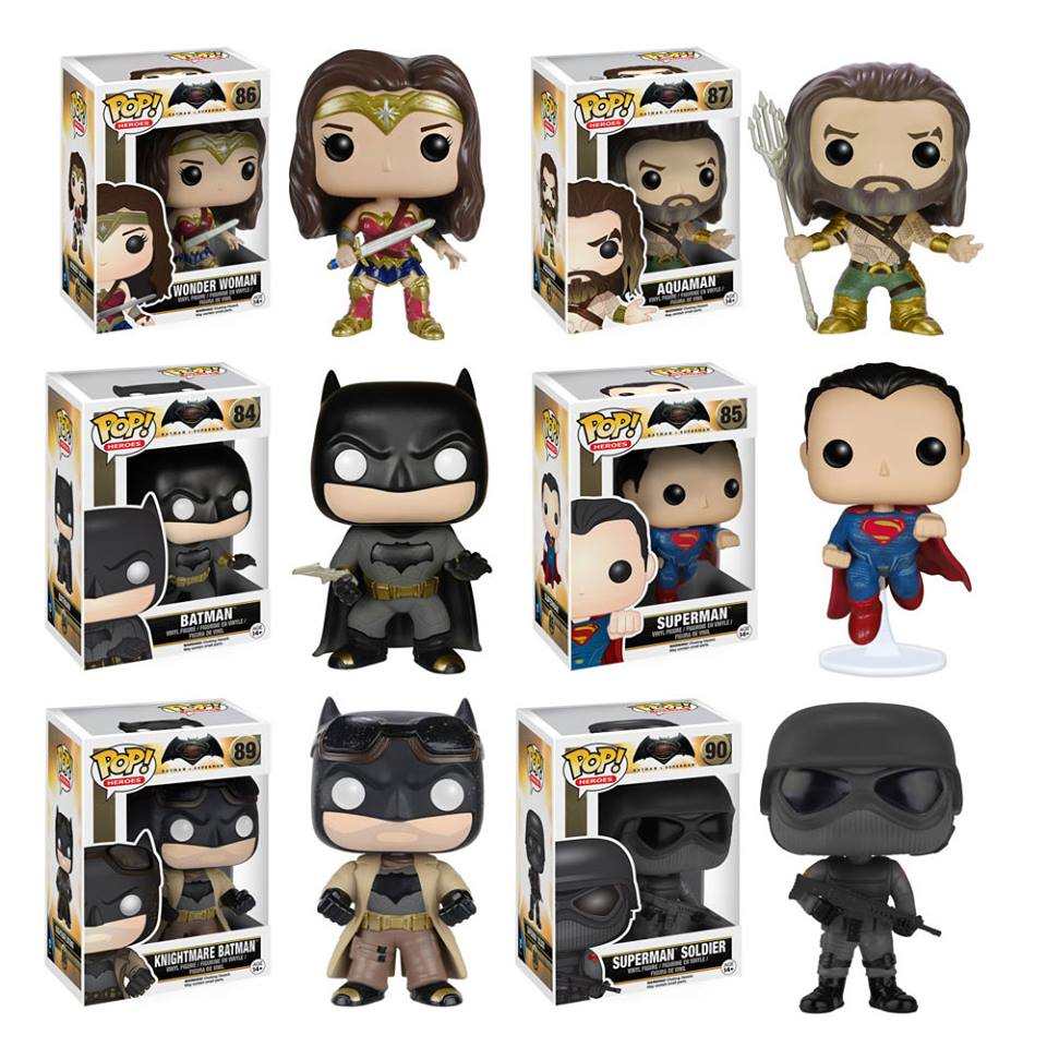 Vinyl Metallic Batman and Superman Pop Batman V Superman Dawn of Justice